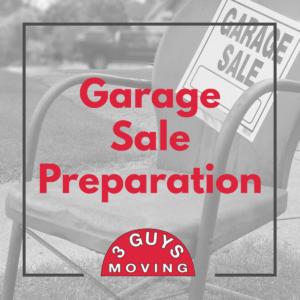Garage Sale Preparation